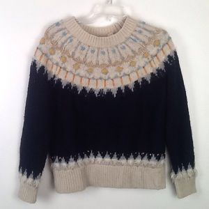 Anthropologie brand hand knit sweater in M